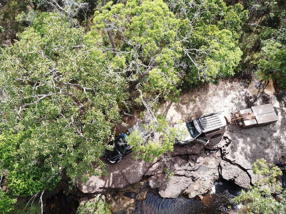Towing the line to the top of Cape York