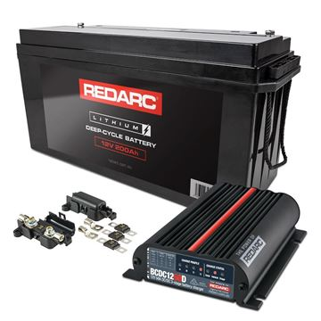 REDARC 200ah lithium battery with DC charger