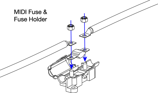 has your fuse holder melted? The solution is using good quality fuses and fuse holders